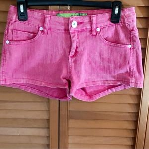 NEARLY NEW VANILLA STAR ⭐️ PINK DENIM SHORTS SZ.7